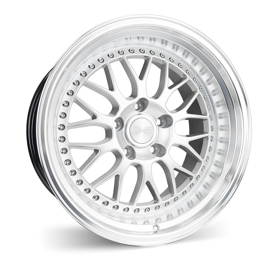 ESR SR01 Hyper Silver Machine Lip 17x8.5 5x120 25 Offset Wheel