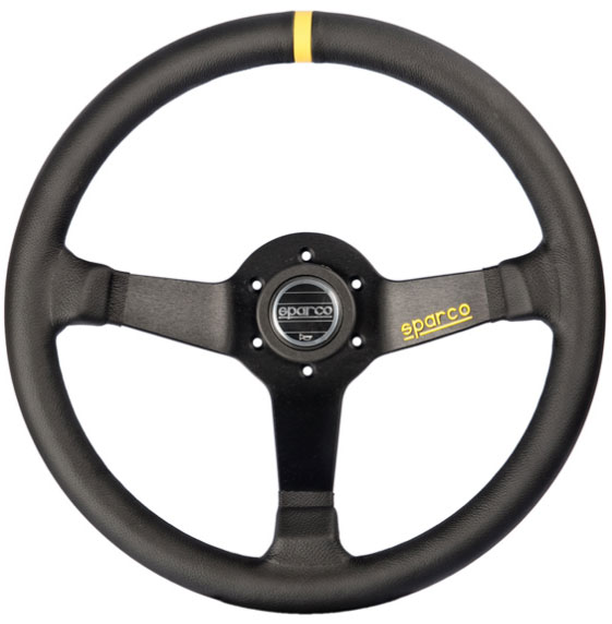 Sparco Black 350mm R345 Leather Steering Wheel