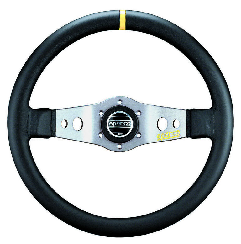 Sparco Black 350mm L555 Leather Steering Wheel