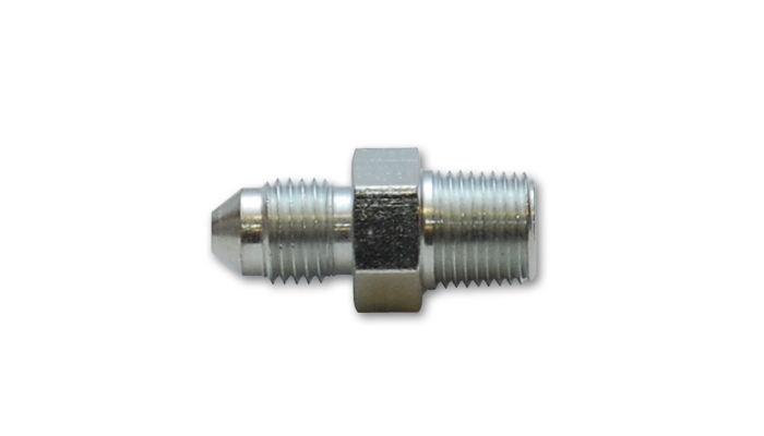 Vibrant -3 AN x 1/8 NPT Straight Adapter Fitting: Steel
