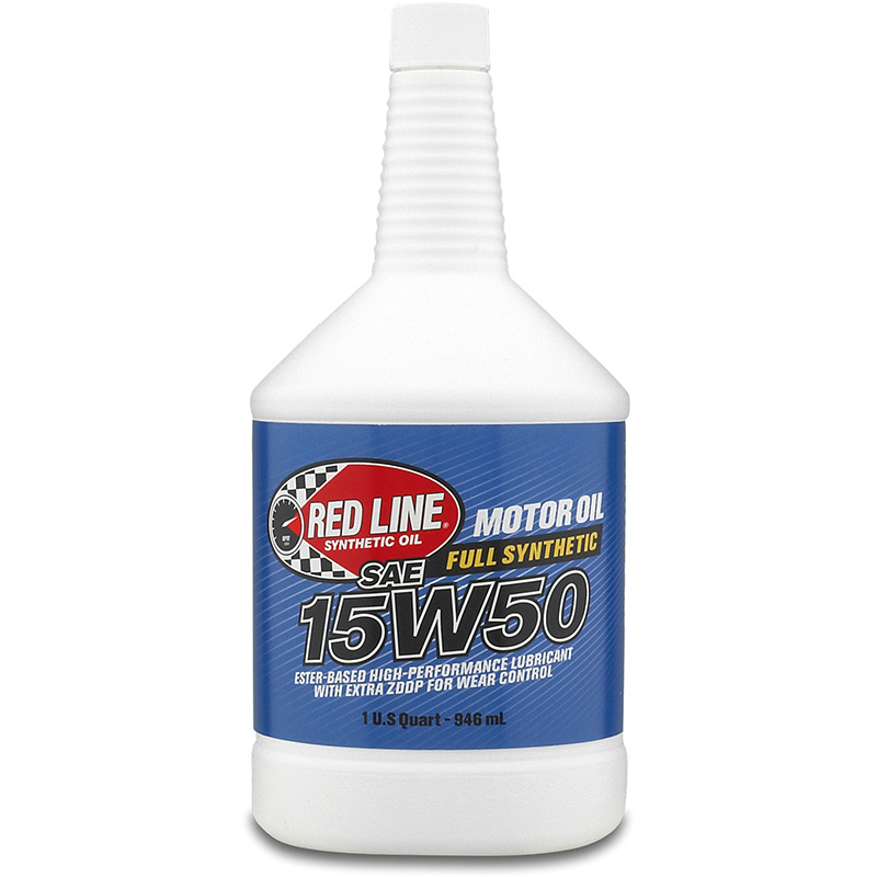 Red Line 15W-50 Synthetic Motor Oil: Quart