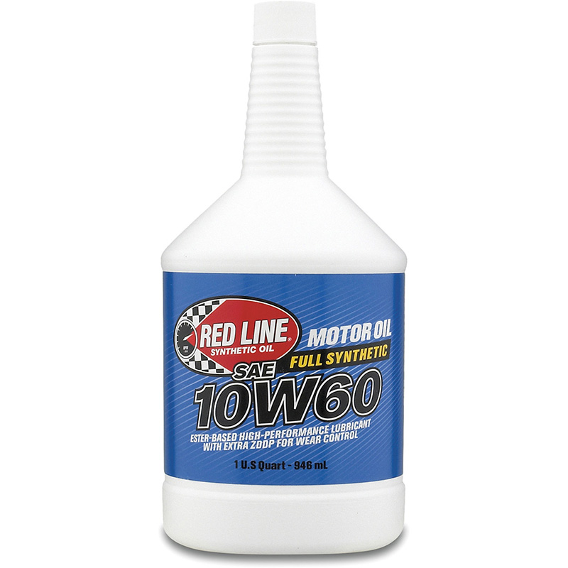 Red Line 10W-60 Synthetic Motor Oil: Quart
