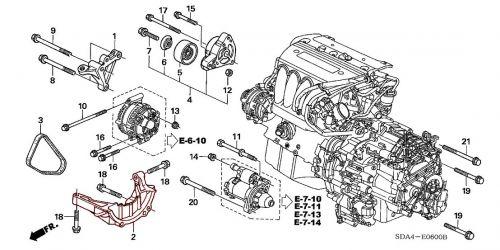 tsx engine diagram honda 04 08 tsx oem engine stiffener flywheel cover k series parts  honda 04 08 tsx oem engine stiffener