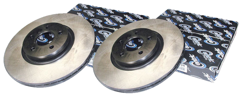 Centric Premium Rear Rotors: Pair