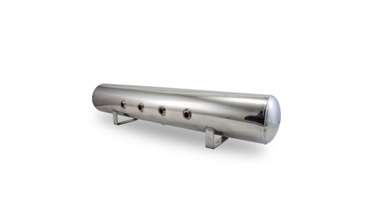 Air Lift Performance Air Tank: 5 Gallon - Polished Aluminum