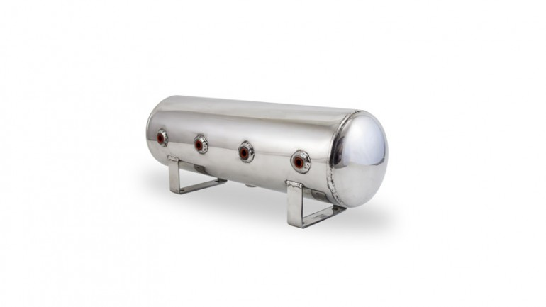 Air Lift Performance Air Tank: 2.5 Gallon - Polished Aluminum