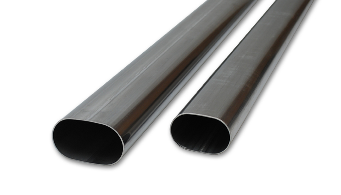 Vibrant Stainless Steel Straight Oval Tubing: 4