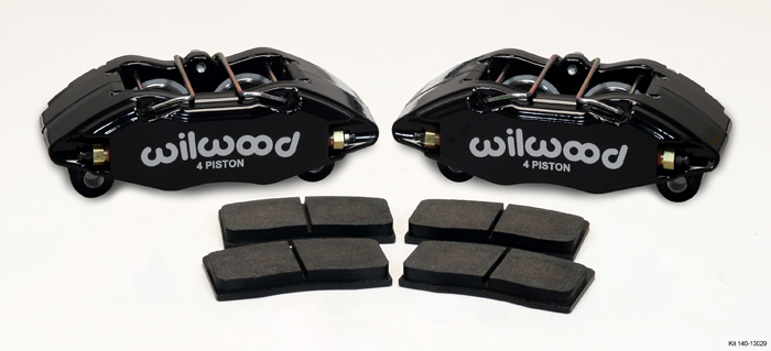 Wilwood Forged DPHA Front Caliper Kit: Black