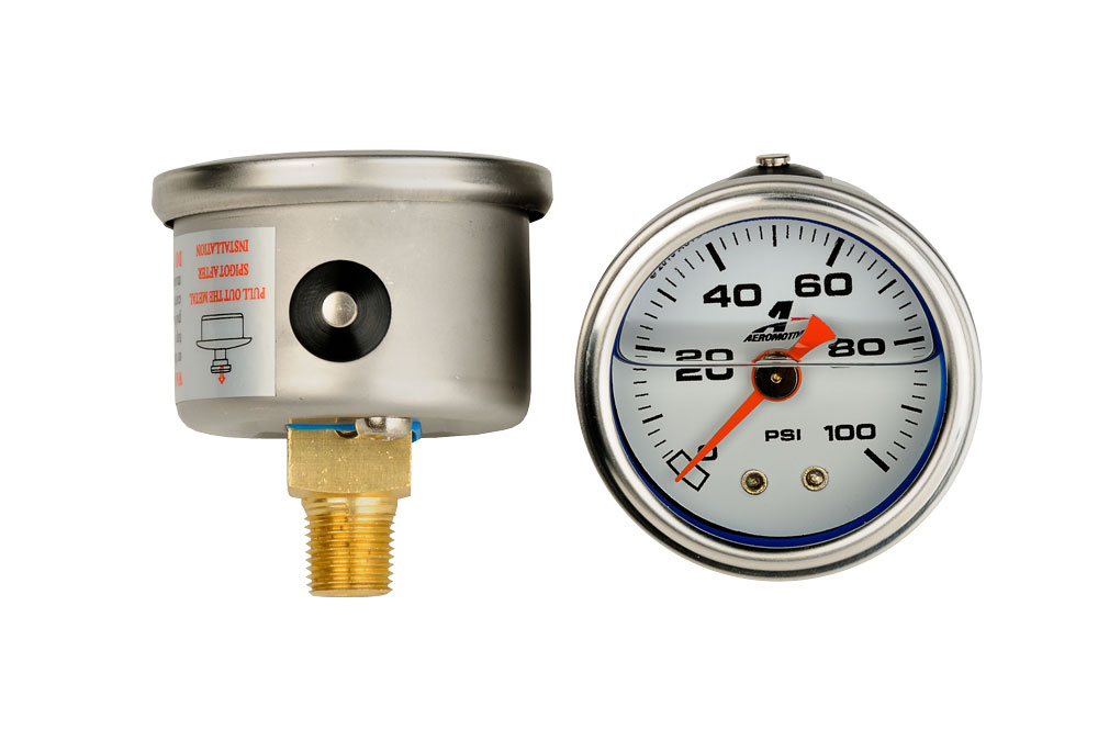 Aeromotive 0-100psi Fuel Pressure Gauge