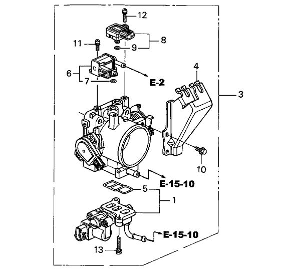 honda oem throttle body  k series parts