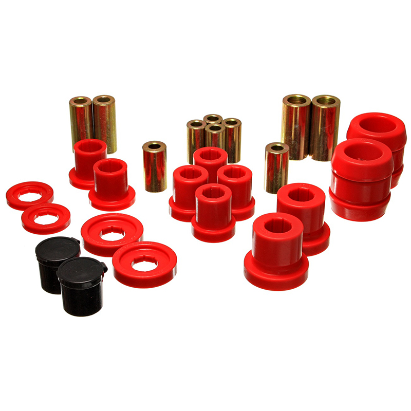 Energy Suspension Front Control Arm Bushings: Red