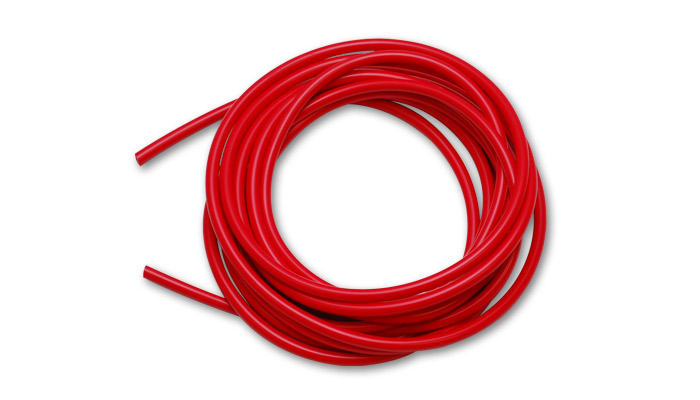 Vibrant Performance Red Silicone Hose Bulk: 10ft 3/8'' 10mm