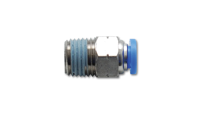 Vibrant Male Straight Pneumatic Vacuum Fitting: 1/4'' NPT 3/8'' OD