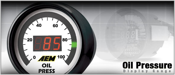 AEM Oil/Fuel Pressure Gauge