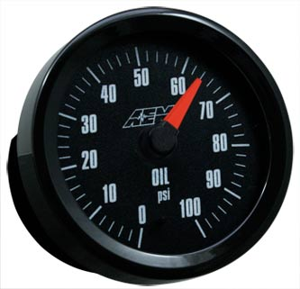 AEM Analog Oil Pressure Gauge (0-100PSI)