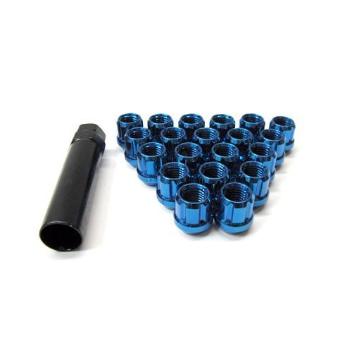 Muteki Blue M12x1.5 Open Ended Lug Nuts: 20 Pack