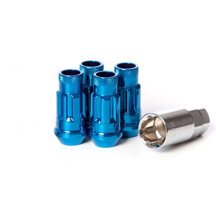 Muteki SR48 Blue M12x1.25 Open Ended Wheel Locks: 4 Pack