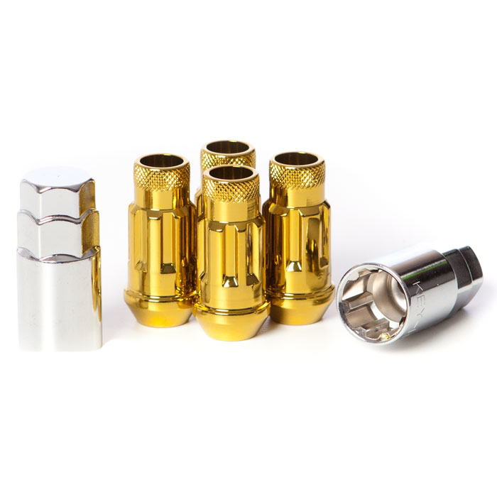 Muteki SR48 Gold Chrome Wheel Locks