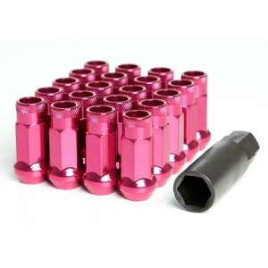 Muteki SR48 Open Ended Lug Nuts 20 Pack: Pink M12 x 1.5