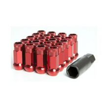 Muteki SR48 Red M12x1.5 Open Ended Lug Nuts: 20 Pack