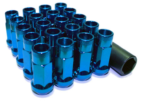 Muteki SR48 Open Ended Lug Nuts 20 Pack: Blue M12 x 1.5