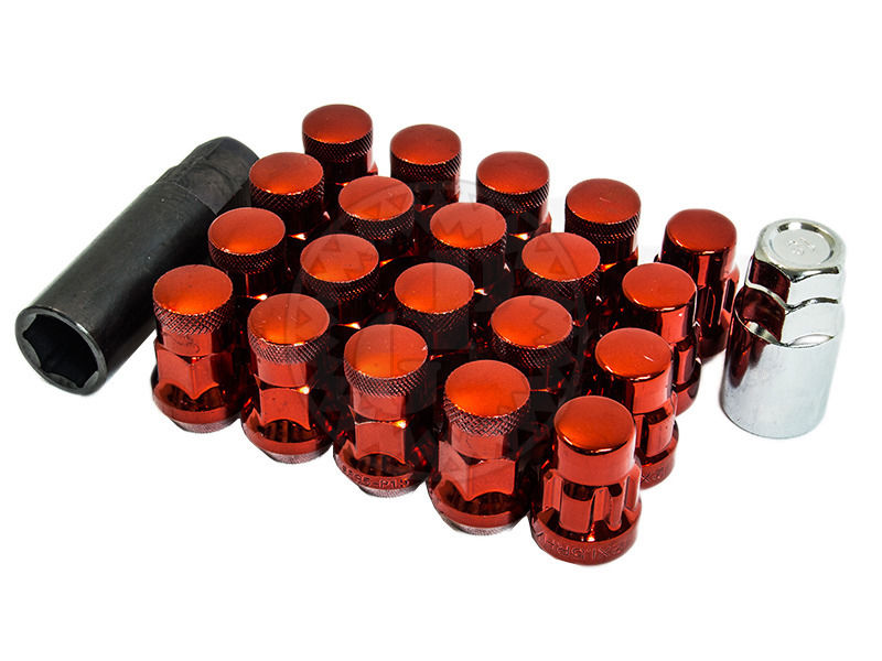 Muteki SR35 Closed Ended Lug Nuts 20 Pack: Red