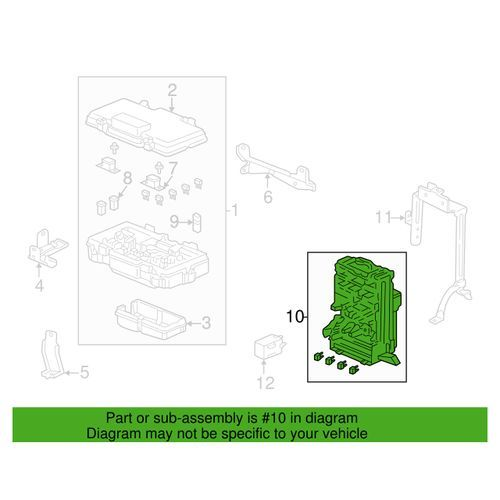 honda 05 06 rsx type s oem interior fuse box k series partshonda 05 06 rsx type s oem interior fuse box a1