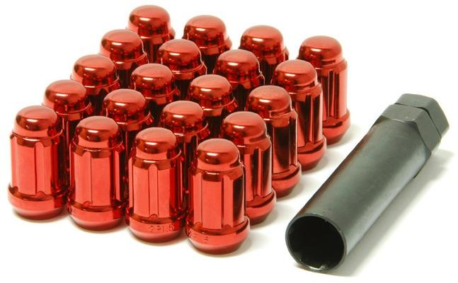 Muteki Red M12x1.25 Closed Ended Lug Nuts: 20 Pack