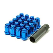 Muteki Blue M12x1.5 Closed Ended Lug Nuts: 20 Pack