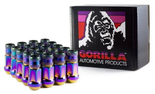Gorilla Prism Light Open Forged Steel Racing Lug Nuts: 20 Pack M12 x 1.5