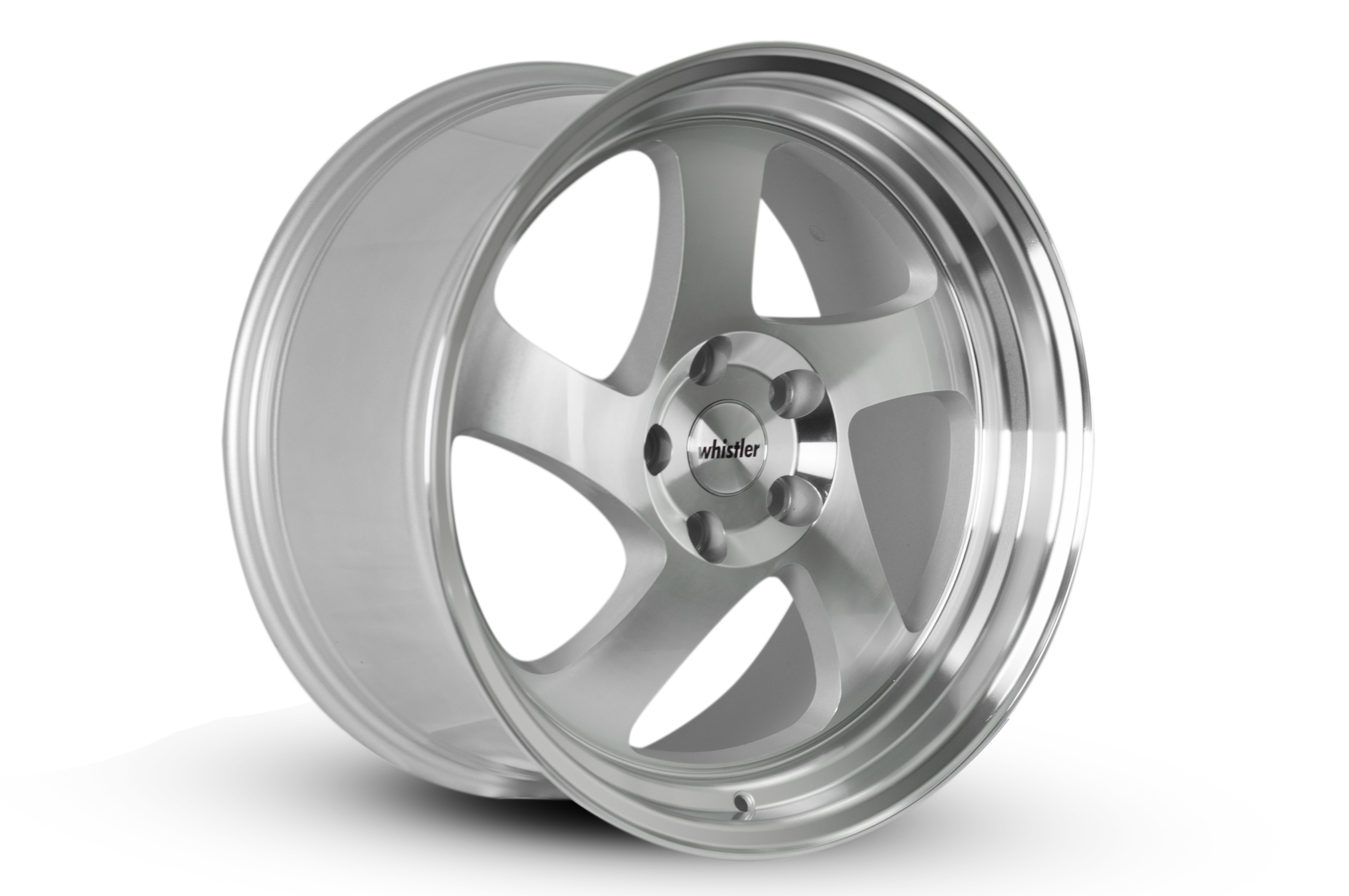 Whistler Wheels 17x9 KR1 Silver with Machined Face: +25mm
