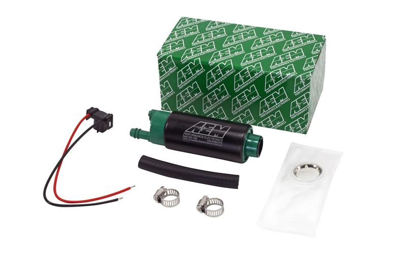 AEM 320LPH High Flow In-Tank E85/Alcohol Fuel Pump w/ Center Inlet Kit