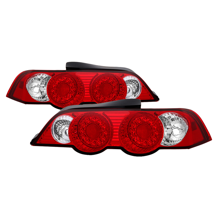 Spyder Auto 02-04 RSX Red Clear LED Tail Lights