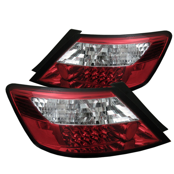 Spyder LED Red Clear Tail Lights