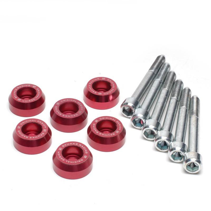 Skunk2 Red Lower Control Arm Bolt Kit