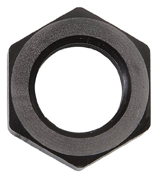 Russell 6AN Black Bulkhead Nut