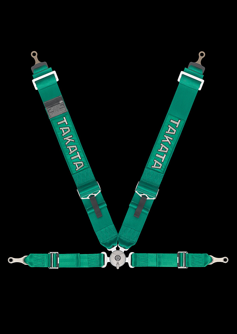 Takata Race 4 Bolt Harness (Green)