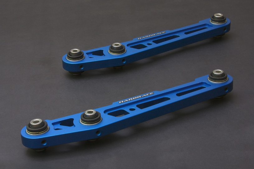 HardRace Blue Rear Lower Control Arms (Pillow Ball, 50mm Shock Bushing)