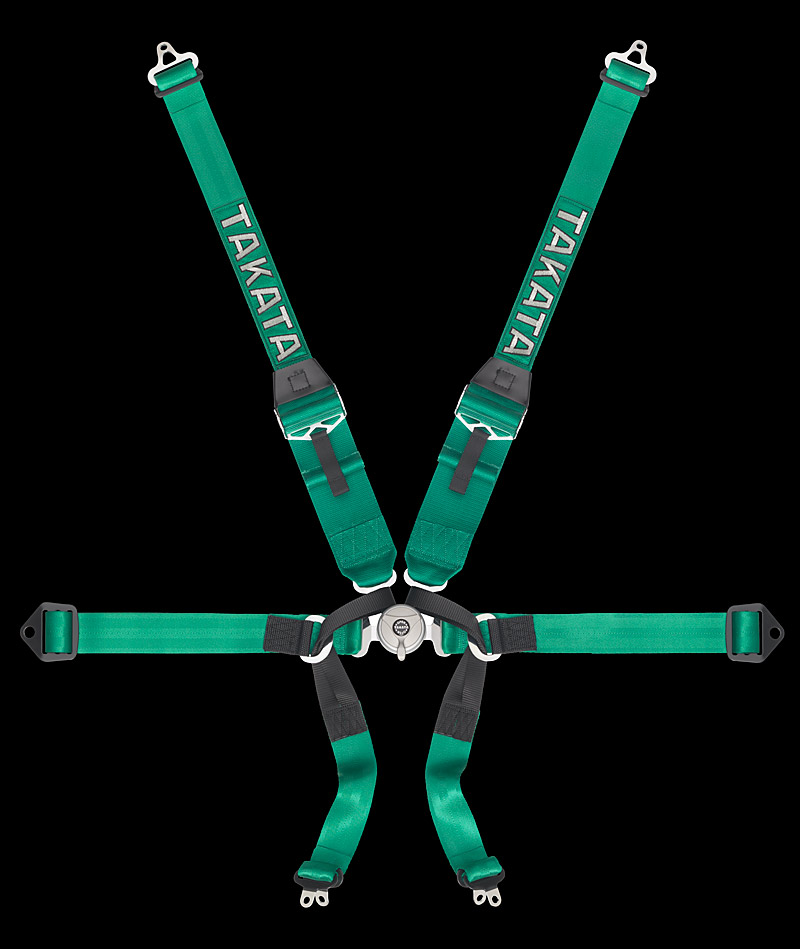 Takata Formula 6 Hans Harness (Green)