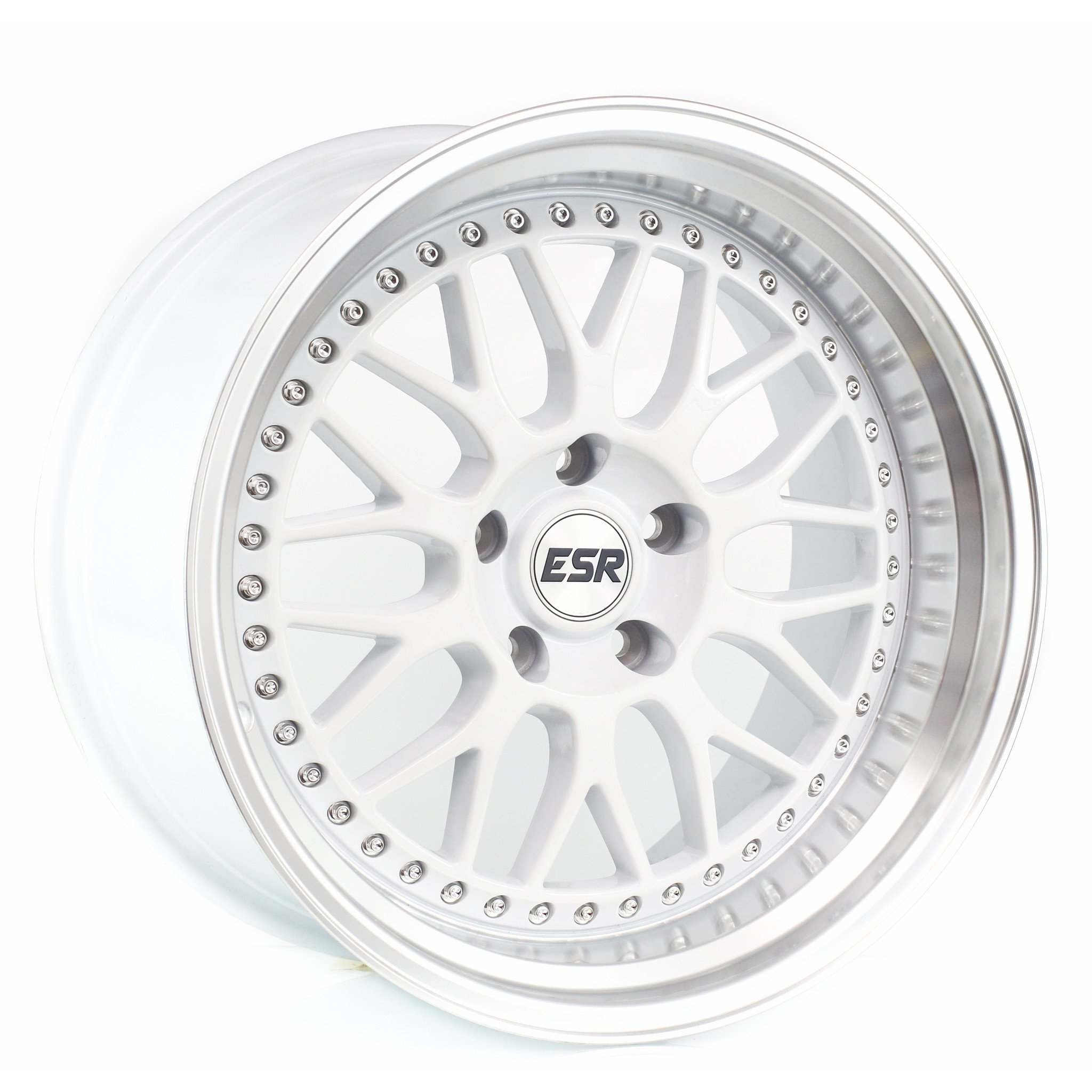 ESR SR01 White Machine Lip 17x9.5 5x100 20 Offset Wheel
