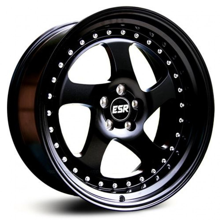 ESR SR02 Matte Black 17x9.5 5x100 20 Offset Wheel