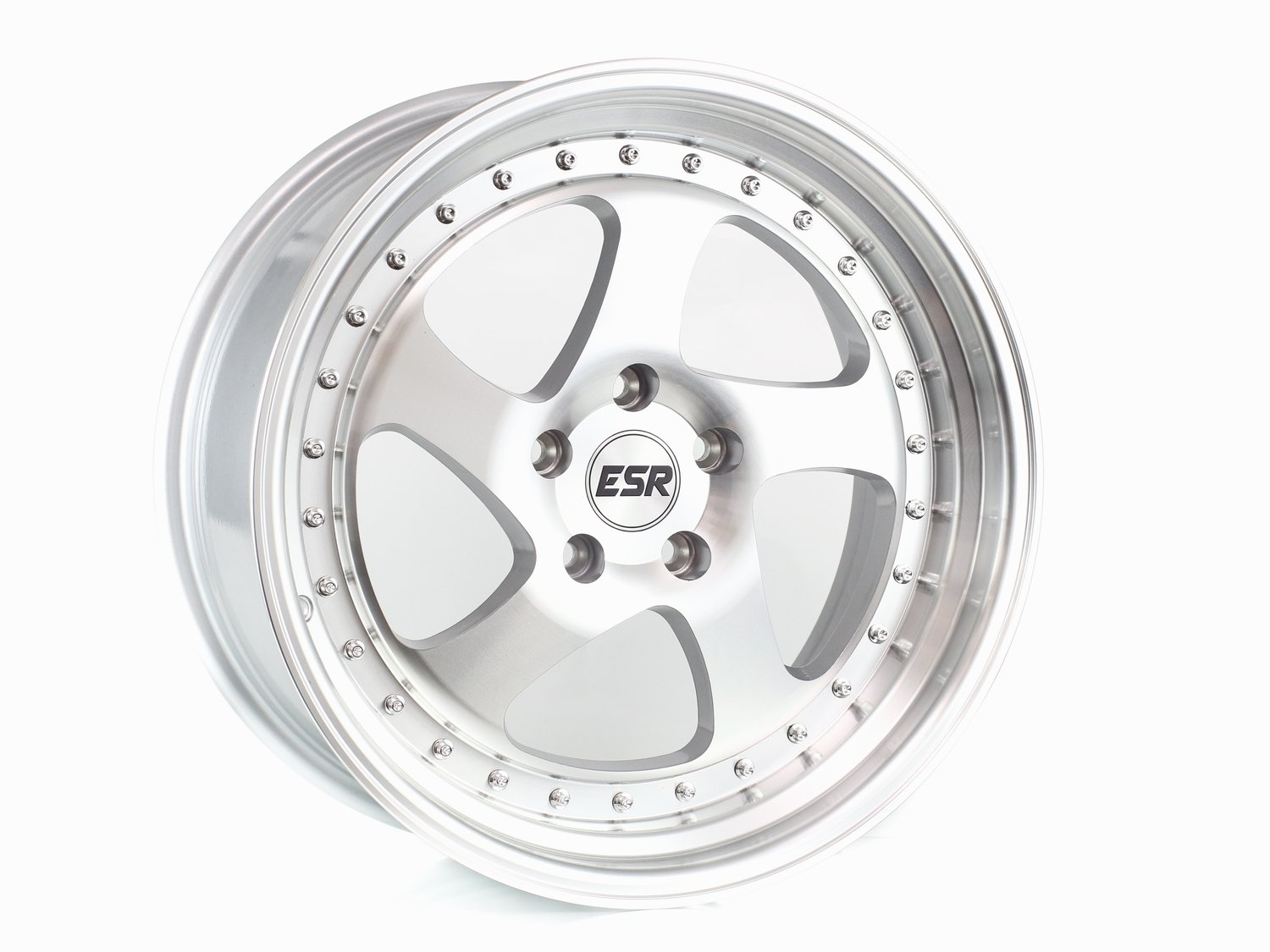 ESR SR02 Machine Face Machine Lip 17x9.5 5x100 20 Offset Wheel