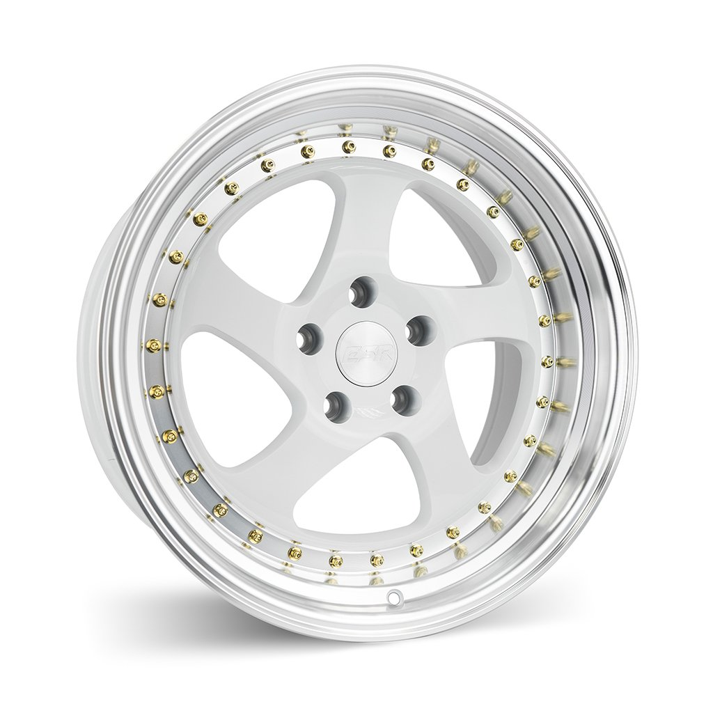 ESR SR02 White Machine Lip 17x8.5 5x120 30 Offset Wheel