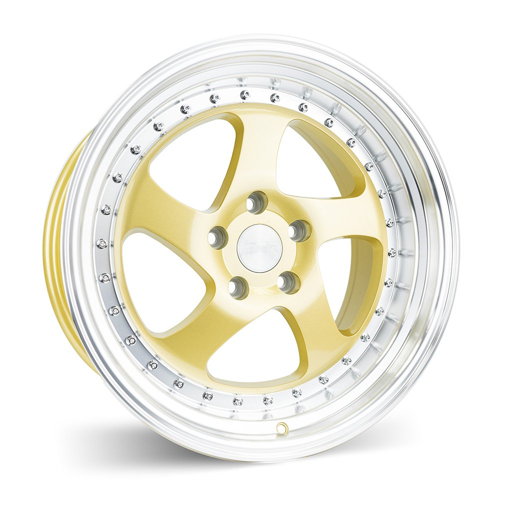 ESR SR02 Gold Machine Lip 17x9.5 5x100 20 Offset Wheel