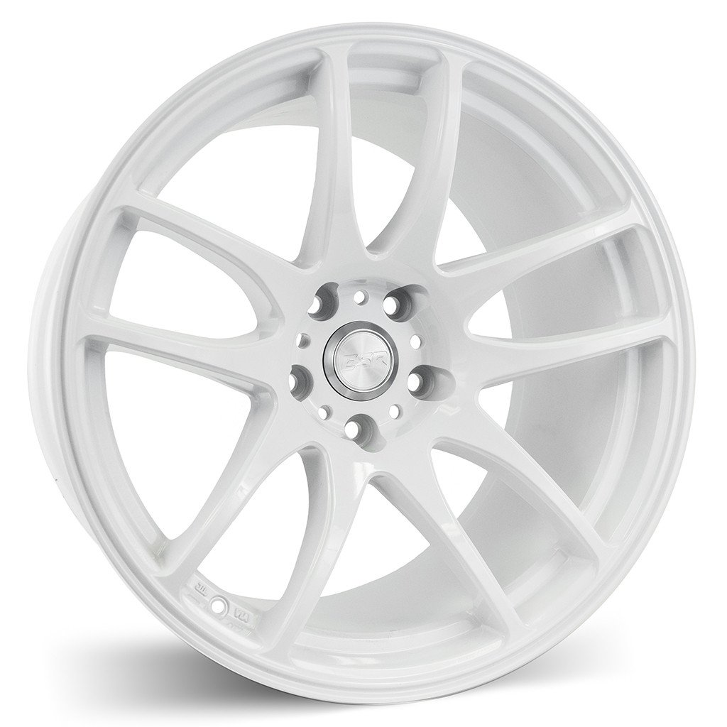 ESR SR08 Gloss White 17x8.5 5x114.3 30 Offset Wheel
