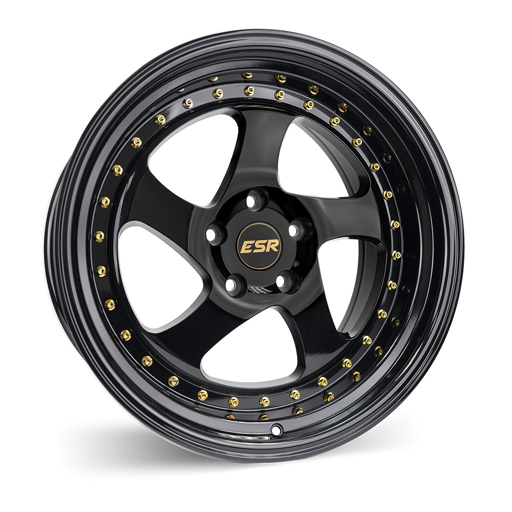 ESR SR02 Gloss Black 17x9.5 5x100 20 Offset Wheel