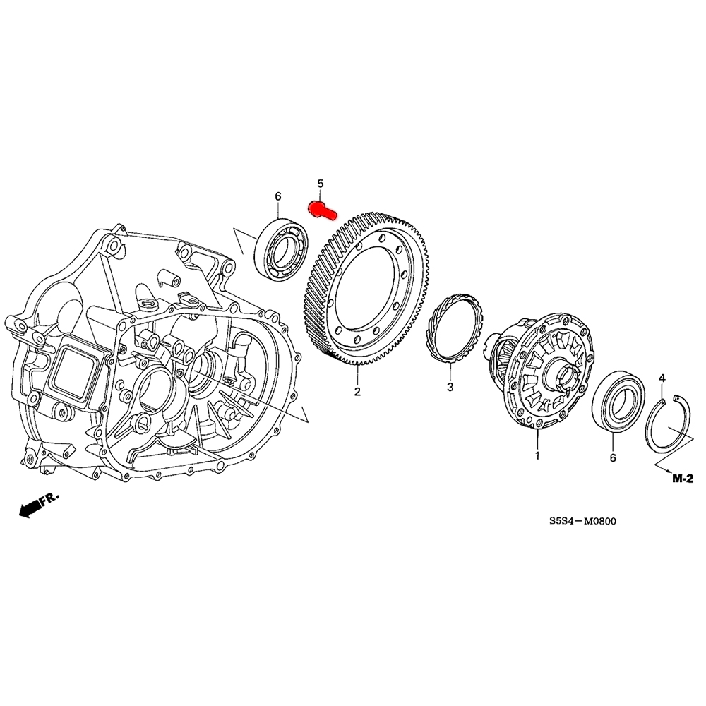 Gears Synchros Internals K Series Parts 1995 Honda Civic Tow Hook Diagram Differential Ring Gear Bolt 11mm