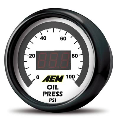 AEM Oil/Fuel Pressure Gauge 0-100psi-A1