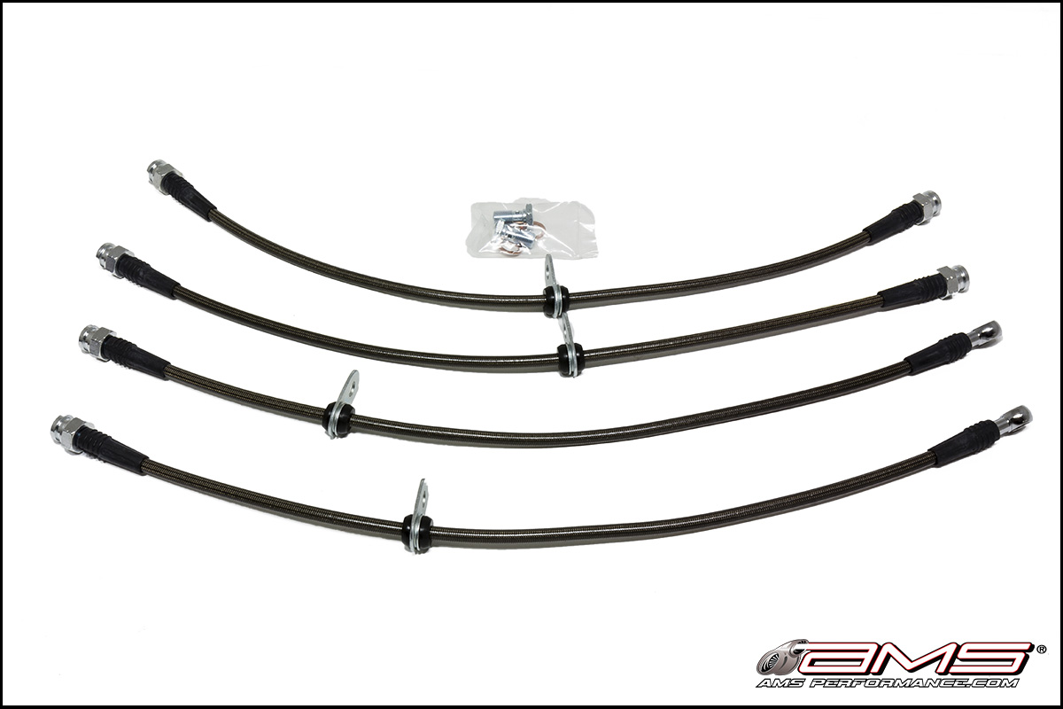 AMS Performance 03-06 Evolution Front and Rear Stainless Steel Brake Lines