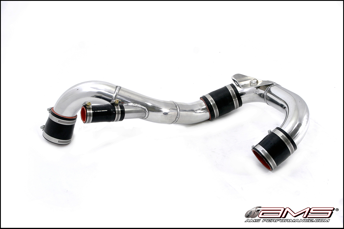 AMS Performance 08-15 Evolution X Lower Intercooler Pipe with Stock BOV Flange